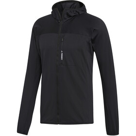 adidas TERREX TraceRocker Hooded Fleece Jacket Herren black